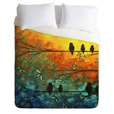 Madart Inc Birds Of A Feather Microfiber Duvet Cover