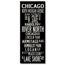 Chicago Textual Art on Canvas