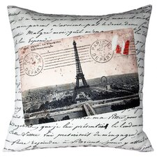 <strong>Uptown Artworks</strong> French Vintage Eiffel Tower Pillow