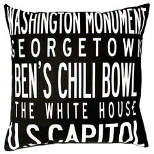 <strong>Uptown Artworks</strong> Washington DC Pillow