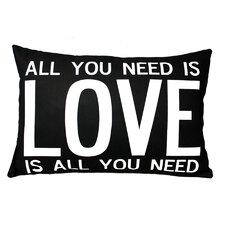 <strong>Uptown Artworks</strong> Love is All You Need Pillow