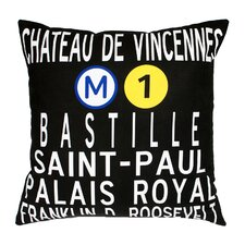 <strong>Uptown Artworks</strong> Paris Metro Pillow