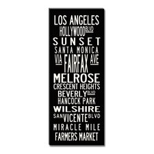 Los Angeles Coastline Textual Art on Canvas