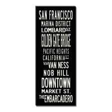 San Francisco Textual Art on Canvas