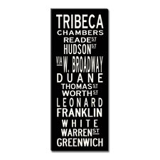 Tribeca Textual Art on Canvas
