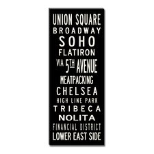 Union Square Textual Art Giclee Printed on Canvas