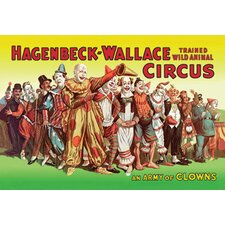<strong>Buyenlarge</strong> Army of Clowns Hagenbeck  Wallace Trained Wild Animal Circus Canvas Art