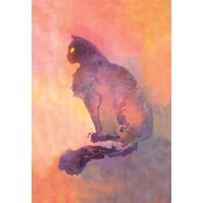 Chat Pourpre Canvas Art
