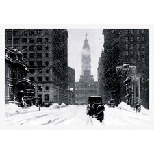 <strong>Buyenlarge</strong> Snow at City Hall, Philadelphia, PA Canvas Art