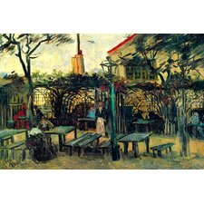 Terrace of a Cafe by Vincent van Gogh Painting Print on Canvas