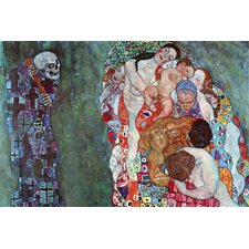 Death and Life by Gustav Klimt Painting Print on Canvas
