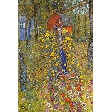 Farmers Garden with Crucifix by Gustav Klimt Painting Print on Canvas