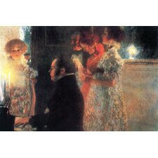 Schubert at the Piano by Gustav Klimt Painting Print on Canvas