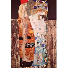 Three Ages of a Woman by Gustav Klimt Painting Print on Canvas