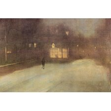 <strong>Buyenlarge</strong> Nocturne in Gray and Gold, Snow in Chelsea  Canvas Art