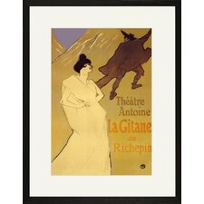 Gitane de Richepin: Theatre Antoine Framed and Matted Print