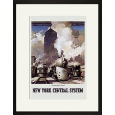 New York Central System by Ragan Framed Vintage Advertisement