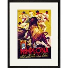 Pamplona, San Fermin by Gibson Framed Vintage Advertisement
