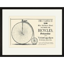 Bicycles, Tricycles and Velocipedes Framed Vintage Advertisement
