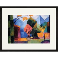 <strong>Buyenlarge</strong> Garden on the lake of Thun Framed and Matted Print
