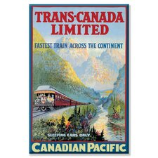<strong>Buyenlarge</strong> Trans-Canada Limited - Fastest Train Across the Continent Canvas Wall Art
