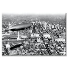 <strong>Buyenlarge</strong> Zeppelin Above Philadelphia Canvas Wall Art