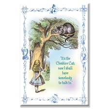 Alice in Wonderland: It's the Cheshire Cat Canvas Wall Art