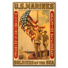 <strong>Buyenlarge</strong> Soldiers of the Sea; Military Training Travel Education Development Canvas Wall Art