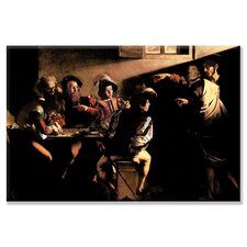 The Calling of Saint Mathew by Michelangelo Caravaggio Painting Print on Canvas
