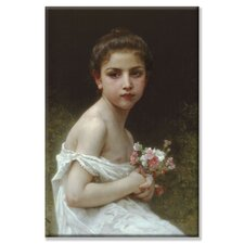 <strong>Buyenlarge</strong> Little Girl with a Bouquet Canvas Wall Art