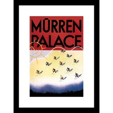 <strong>Buyenlarge</strong> Murren Palace Skiing at Sunset Framed and Matted Print