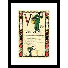 V for Valentine Framed Vintage Advertisement