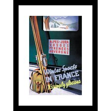 Winter Sports in France Framed and Matted Print