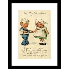 To My Valentine Framed Vintage Advertisement