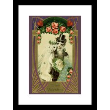 <strong>Buyenlarge</strong> Kitty Bride And Groom Framed and Matted Print