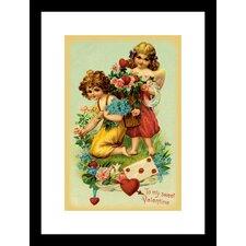 To My Sweet Valentine Framed Vintage Advertisement