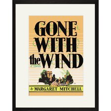 Gone with The Wind by Margaret Mitchell Framed Graphic Art