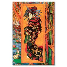 Japanaiserie Oiran Painting Print on Canvas