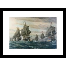 <strong>Buyenlarge</strong> Battle of Virginia Capes Framed and Matted Print