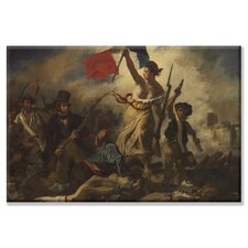 'Liberty Leading the People' Painting Print on Canvas