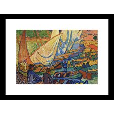 <strong>Buyenlarge</strong> Fishing Boats, Collioure Framed and Matted Print