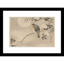 <strong>Buyenlarge</strong> Bird and Cherry Blossoms Framed and Matted Print