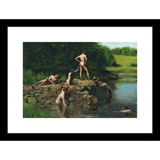 Swimming Framed Painting Print
