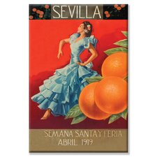 'Sevilla Fair Week' Vintage Advertisement on Canvas