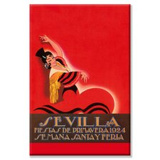 Sevilla Saints Week Fair Vintage Advertisement on Canvas