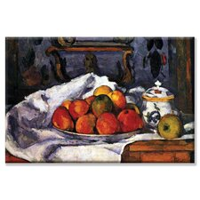 Still Life Bowl of Apples Painting Print on Canvas