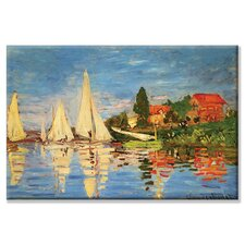 Regatta at Argenteuil by Claude Monet Painting Print on Canvas