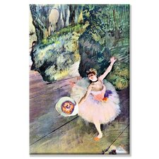 <strong>Buyenlarge</strong> Dancer with a Bouquet of Flowers (The Star of the Ballet) Canvas Wall Art