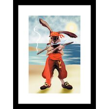 <strong>Buyenlarge</strong> Rabbit Pirate Framed and Matted Print