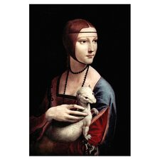 Portrait of a Lady with an Ermine by Leonardo Da Vinci Painting Print on Canvas